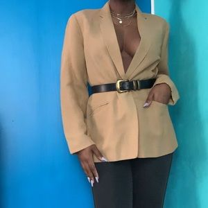 Tan single button blazer